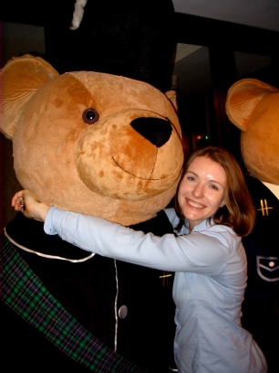 Bear hug in Harrod's.