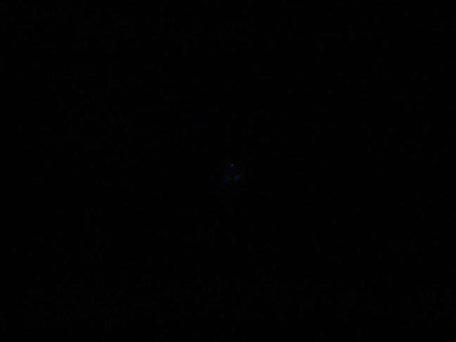 Speck in the middle of the photo is the same headlamp one minute later