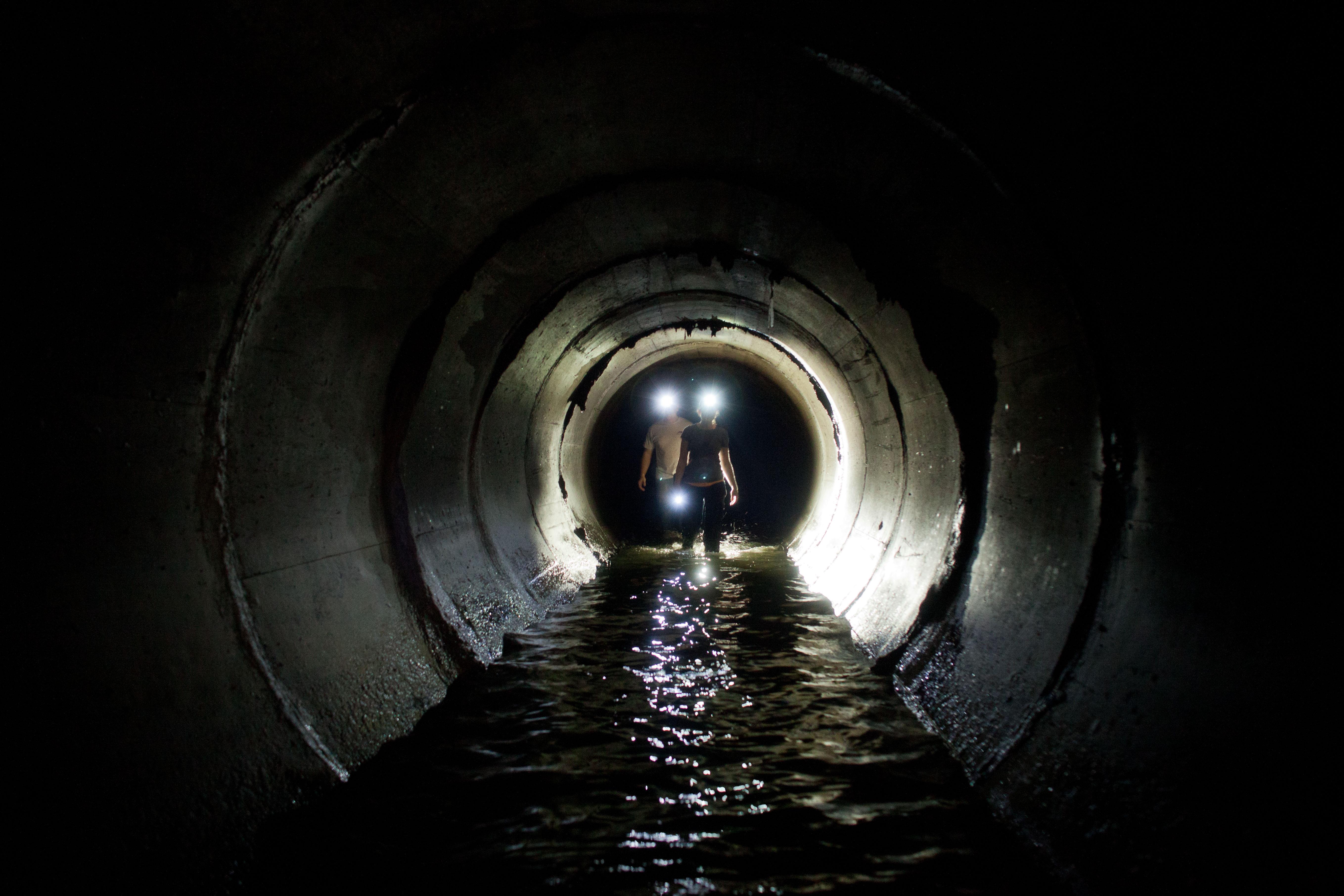 Kristi Tuck Austin in NYC storm drain