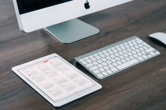 calendar and computer