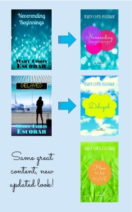 New Covers, author branding, cover consistency, book covers, branding