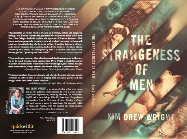 The Strangeness of Men by Kim Drew Wright book cover design
